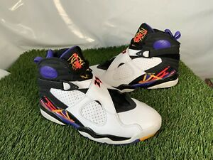 *RARE* Authentic Nike Air Jordan Retro 8 Three Peat Shoes UK 7 Basketball Boxed