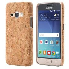 Samsung Galaxy J1 (2016)  CORCHO FUNDA MADERA NATURAL HARD CASE CASO COVER CAJA
