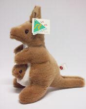 Australian Made soft toys animal Kangaroo Handmade Brown white Brand new 30cm