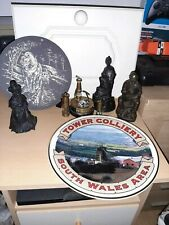 WELSH MINING DECORATIVE PIECES.COLLECTABLES