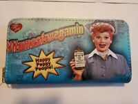 I Love Lucy VITAMEATAVEGAMIN Zippered Wallet with Wrist Strap (NIP)