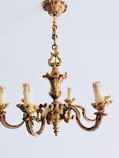 Lustre Louis XV Bronze véritable Lucien Gau années 60