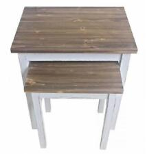 Mesas auxiliares vintage, retro blancos