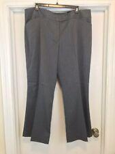 NEW Lane Bryant Size 24W Houston Pants Gray Pin Stripe Wide Leg Career Dress NWT