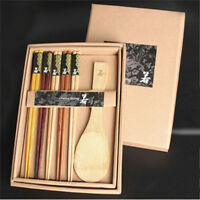 Non-toxic Chopsticks Gift Set Wooden Chopstick Spoons for Food With Box one