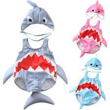 Toddler Kid Baby Girl Boy Cartoon Shark Swimsuit Bikini Swimwear Bathing Suit UK