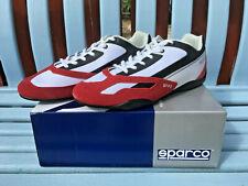 SPARCO SP-F3 Rojo-Blanco Zapatillas Conducción Zapatos, tamaño 45