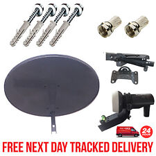 Sky Mini Dish Zone 1 MK4 + Single LNB + Fixing Brackets + F Connectors