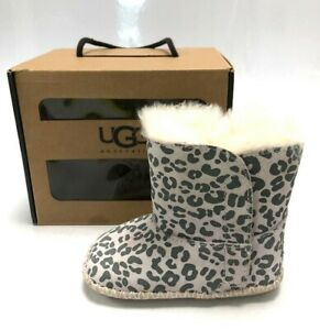 UGG Australia Infant Size 4/5 Cassie Leopard Girl's Ankle Boots Booties #491