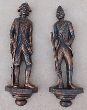 Vintage Colonial Soldier Plaque 7209  7210 Dart IND Syroco Coppercraft Guild Two