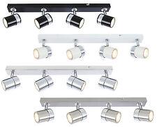 Modern Interior 4 Way GU10 Ceiling Straight Bar Light Spotlights Fitting LED