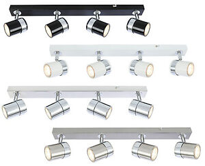 Modern Interior 4 Way GU10 Ceiling Straight Bar Light Spotlights Fitting LED