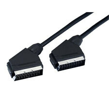 NEW 6ft 2m SCART Audio Video cable shielded OFC 21 pin plated