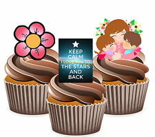 I Love You To The Stars & Back,  Mother's Day Mix -  12 Edible Cup Cake Toppers