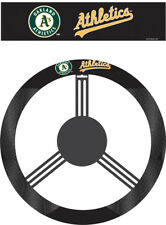 Oakland A's Steering Wheel Cover MLB Baseball Team Logo Poly Mesh