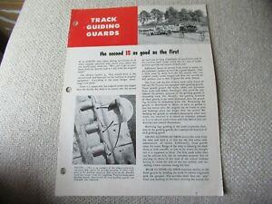 CAT Caterpillar track guiding guards for crawler D8 D9 tractor brochure