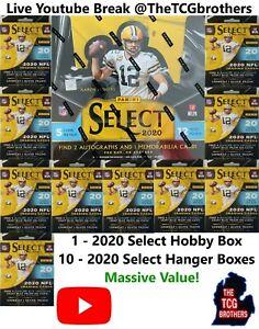 Washington Redskins Break 667 Select Hobby 10x Hanger Box Football 2020 Case