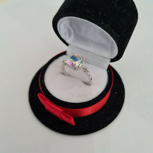 Mercury Mystic Topaz ring in platinum over Sterling Silver