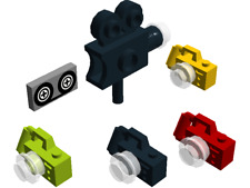 Lego Black Green Red Yellow Cameras Video Camera & Tape Tile Movie Picture