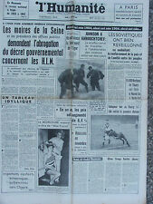 L'Humanité - (2 janv 1964) Décret HLM - Miss France - Hausse des prix - D Rika