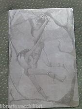 Quadro quadretto realizzato con incisione su metallo inciso a mano fantasy 1 da