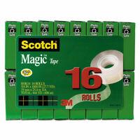 "PK/"" 6//Pack Clear 3//4 x 650 /""Scotch Magic Office Tape /& Refillable Dispenser"