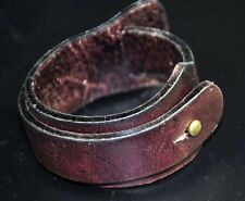 Thick & Wide Wrap-around Genuine Leather Bracelet Wristband Cuff Cool Mens Brown
