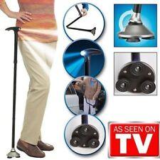 Trusty Cane LED Folding, Walking,Triple Head Pivot Base Hurry As Seen on TV MG