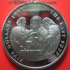 "1997 MARSHALL ISLANDS $5 ""THE LAST SUPPER"" JESUS CHRISTIANITY 38mm (no silver)"