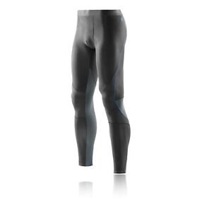 Skins Mens RY400 Compression Recovery Tights Bottoms Pants Trousers Black Sports