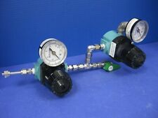 Wilkerson R16-02-000A Double Regulator Assy w/ 0-160 Gauges & SS-44T Valve, Used