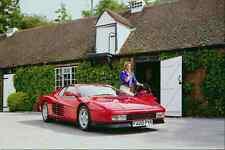 Metal Sign 778077 Ferrari Testarossa And Girl A4 12X8 Aluminium