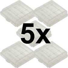 5 x Aufbewahrungsbox für AAA/AA Batterie Batteriebox Mignon Micro Akku Box