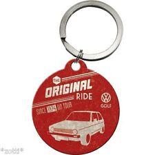Nostalgic Art - Schlüsselanhänger rund Durchmesser 4cm VW Golf Original Ride *