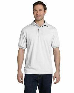 Hanes Men's Golf Shirt Blended Polo Sport Shirt Sizes S-5XL 14 Colors 054X