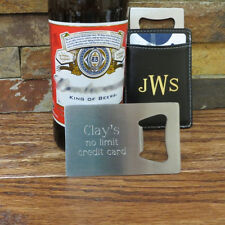 Credit Card Bottle Opener- Gifts for Men- Groomsmen Gifts- Bar Accessories(923)