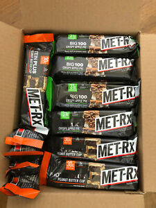 Lot of 46 Met-Rx Protein bars.  28 Crispy Apple Pie and 18 Peanut Butter Cup