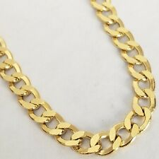Real 10k yellow gold Cuban chain necklace 5 mm 20 inches long diamond cut
