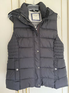 abercrombie and fitch Mens Black Padded Hooded Gilet In Size XL