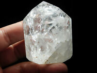 A Larger! Super Translucent Polished Fire and Ice Quartz Crystal Brazil 169gr