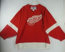 Vtg Ccm Nhl Detroit Red Wings Mens Xl Extra Large Hockey Jersey Red White
