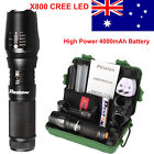 LED Flashlight 5000 lms CREE T6 Tactical Waterproof Torch 18650 Battery Charger