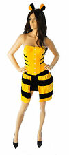 SALE!! Sexy Yellow Black Bumble Bee Adult Womens Costume Dress Corset XS-M