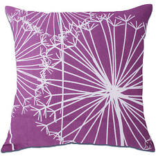 dandelion flower purple cushion covers
