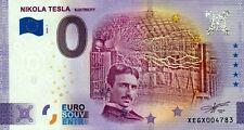 Null Euro Schein - 0 Euro Schein - Nikola Tesla - Electricity 2020-1 Anniversary