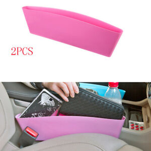 2X For All Jeep Model Front Centre Seat Organizer Hold Storage Plastic Trim Pink