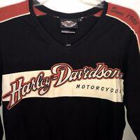 Harley Davidson Motorcycles Prestige Tee Club Long Sleeve Cotton Shirt Small NWT