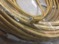 Filo Prolunga elettrico 3X0,75 rivestito al metro ricambio lampadario Oro
