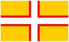 "Durham County Flag mini small 9/""x6/"" 22cm x 15cm Polyester Sleeved"