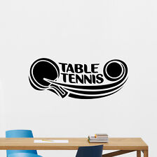 Table Tennis Wall Decal Ping Pong Sport Vinyl Sticker Gym Decor Poster 210hor